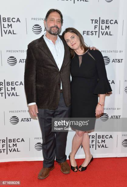 Dr Samuel K Wasser and director Kate Brooks attend 'The Last Animals' Premiere during 2017 Tribeca Film Festival at Cinepolis Chelsea on April 22...
