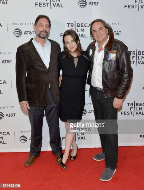 Dr Samuel K Wasser and Director Kate Brooks pose with guests at 'The Last Animals' Premiere during 2017 Tribeca Film Festival at Cinepolis Chelsea on...