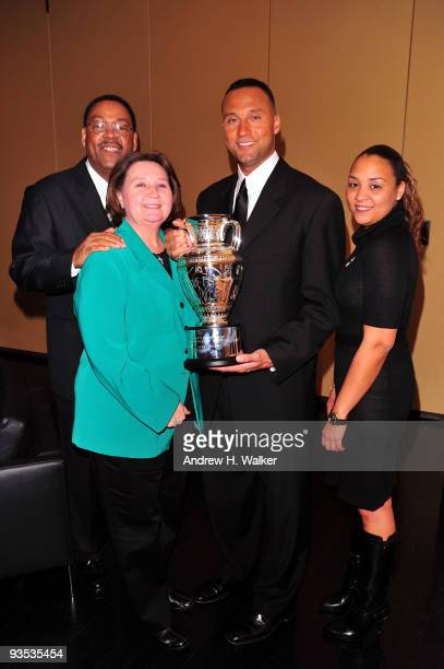 Dr Sanderson Charles Jeter Dorothy Jeter 2009 Sports Illustrated Sportsman of the Year Derek Jeter and Sharlee Jeter attend the 2009 Sports...