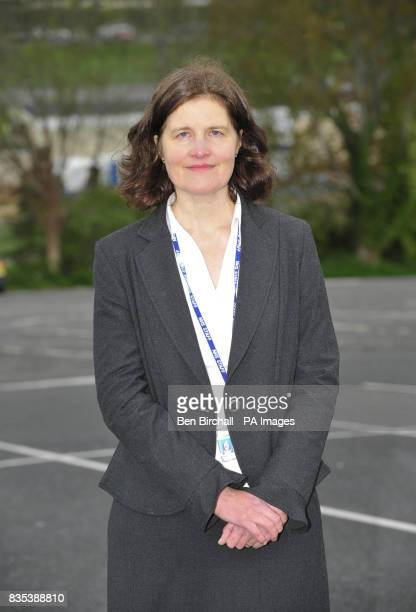 Dr Sarah Harrison consultant in public health who is in Torbay as pupils from the senior school premises at Paignton Community Sports College in...