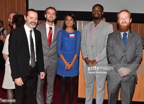 Dr Scott Noggle Thomas Rusielewicz Tanya Jain Kennedy Agwamba and Geoff BuckleyHerd attend the NYSCF Gala Science Fair at Jazz at Lincoln Center on...