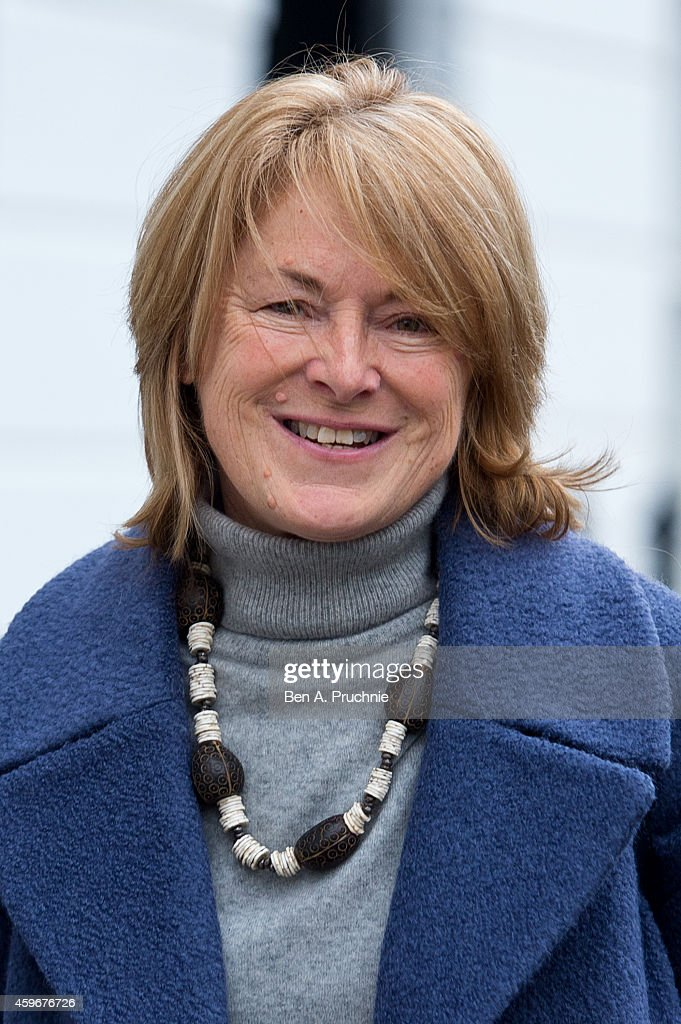 Dr Sharon Bennett, wife of Andrew Mitchell, leaves their home on November 28, 2014 in London, England. A judge ruled yesterday that Andrew Mitchell probably did call police officers 'plebs', as he ruled against the Tory MP in a High Court libel action.