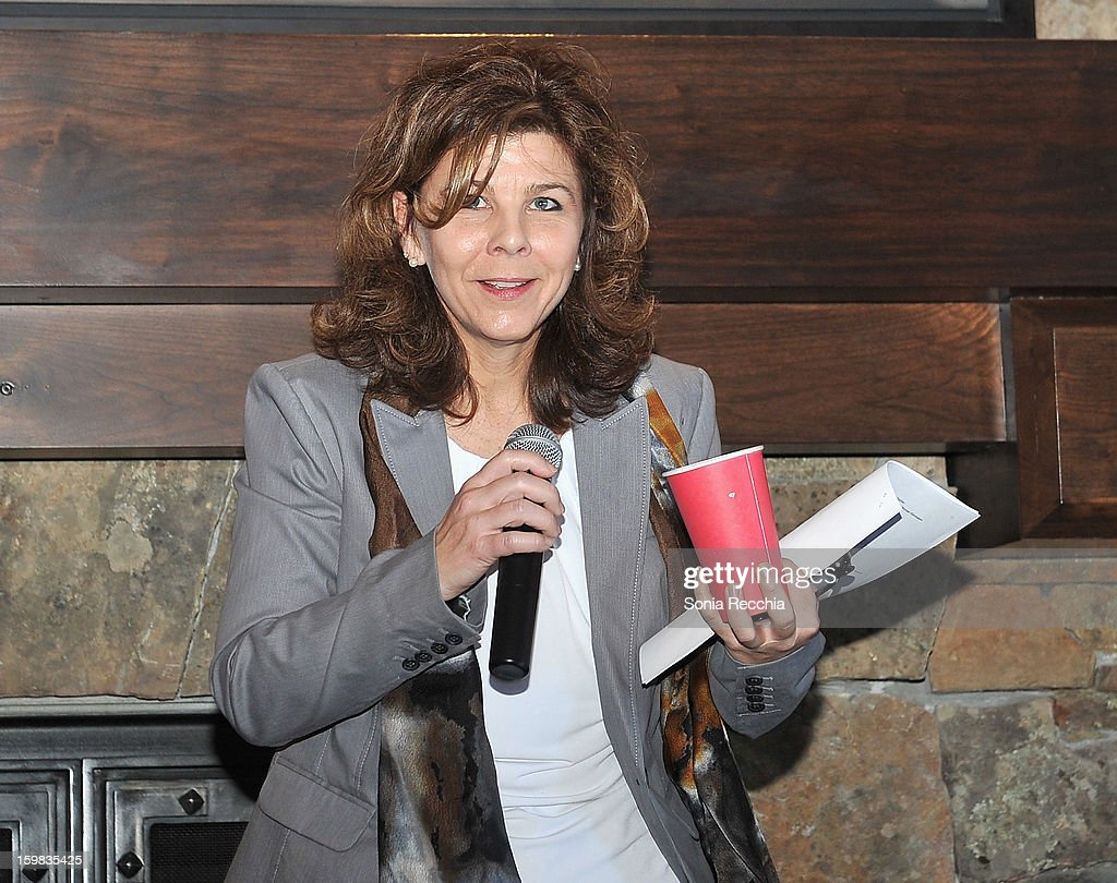 Dr. Stacy Smith of USC Annenberg School for Communication and Journalism speaks at the Women at Sundance Brunch during the 2013 Sundance Film Festival on January 21, 2013 in Park City, Utah.