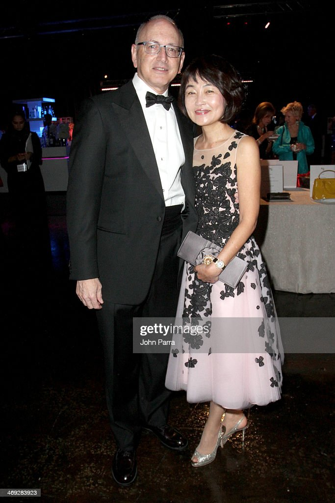 Dr. Stephen Nimer and Georgia Nimer attend the Designed For A Cure 2014 Benefiting Sylvester Comprehensive Cancer Center on February 13, 2014 in Miami, Florida.