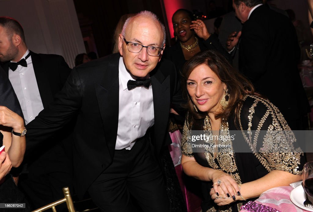 Dr Stephen Nimer and Lorraine Schwartz attend Gabrielle's Angel Foundation Hosts Angel Ball 2013 at Cipriani Wall Street on October 29 2013 in New...
