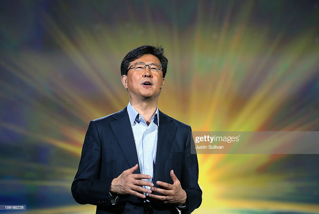 Dr. Stephen Woo, Samsung Electronics President, Device Solutions Business speaks during a keynote address at the 2013 International CES at The Venetian on January 9, 2013 in Las Vegas, Nevada. CES, the world's largest annual consumer technology trade show, runs through January 11 and is expected to feature 3,100 exhibitors showing off their latest products and services to about 150,000 attendees.
