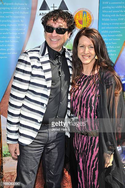 Dr Steve McCarthy and Joely Fisher attend IFAW Adopt the Arts and the Los Angeles Unified School District's Love Elephants Youth Art Exhibit and...