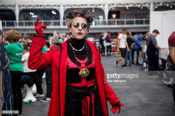 Dr Strange cosplayer seen in character during the London Super Comic Con at Business Design Centre on August 25 2017 in London England