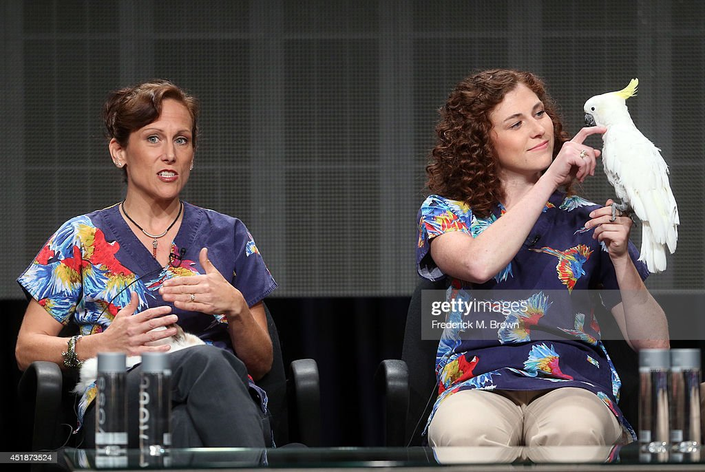 Dr. Susan Kelleher and Dr. Lauren Thielen speak onstage at the 'Dr. K and the Exotics' panel during the National Geographic Channels portion of the 2014 Summer Television Critics Association at The Beverly Hilton Hotel on July 8, 2014 in Beverly Hills, California.