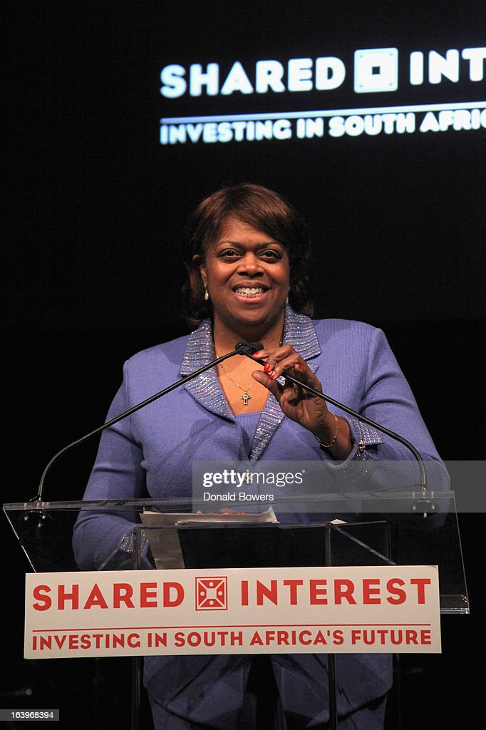 Dr. Suzan Johnson Cook speaks onstage at the Shared Interest 19th Annual Awards Gala on March 18, 2013 in New York City.
