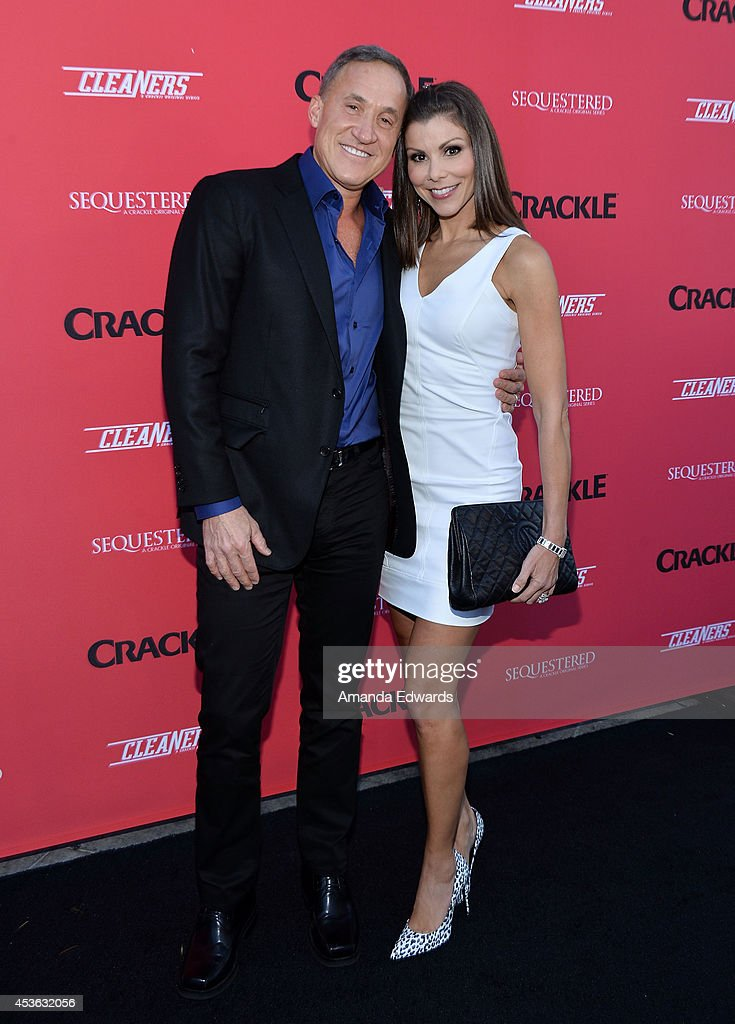 Dr. Terry DuBrow (L) and actress Heather DuBrow arrive at the Crackle Original Series' 'Cleaners' and 'Sequestered' summer premiere celebration at 1 OAK on August 14, 2014 in West Hollywood, California.