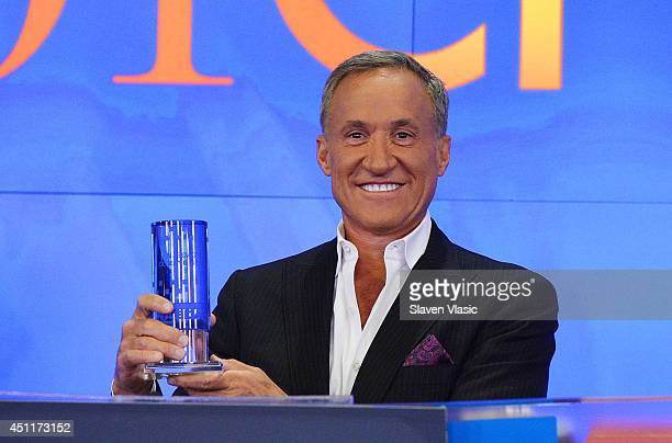 Dr Terry Dubrow the cast member of 'Botched' rings the closing bell at NASDAQ MarketSite on June 24 2014 in New York City