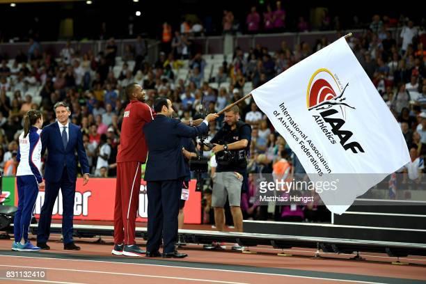 E Dr Thani Abdulrahman Al Kuwari VicePresident IAAF World Championships Doha 2019 and President Qatar Athletics Federation IAAF President Sebastian...