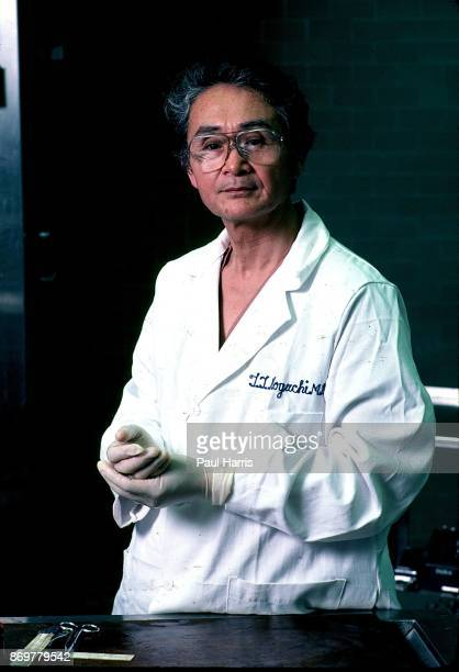Dr Thomas Noguchi photographed in the LA county coroners office in his 30 years as LA Coroner he examined the corpses of some of the most famous...