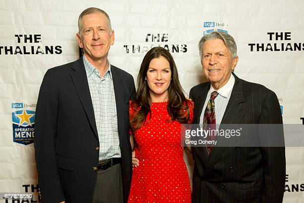 Dr Tom Strouse Actress Kira Reed Lorsch and Thalians President Dr Irwin Lehrhoff arrive for The Thalians Presidents Club's 'Holiday Brunch...