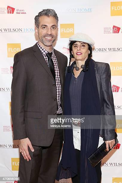 Dr Vincent Pedre and Jade Dressler attend the book signing of Clean Design at FLOR Design Store on April 21 2015 in New York City
