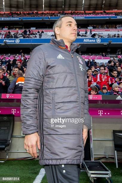 Dr Volker Braun of Bayern Muenchen looks on during the Bundesliga match between Bayern Muenchen and Hamburger SV at Allianz Arena on February 25 2017...