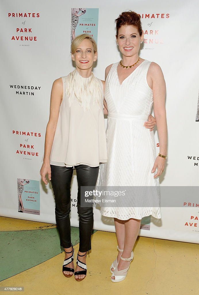 Dr. Wednesday Martin and Debra Messing attend 'Primates of Park Avenue' by Dr. Wednesday Martin Release Event at the Children's Museum of the East End on June 20, 2015 in New York City.