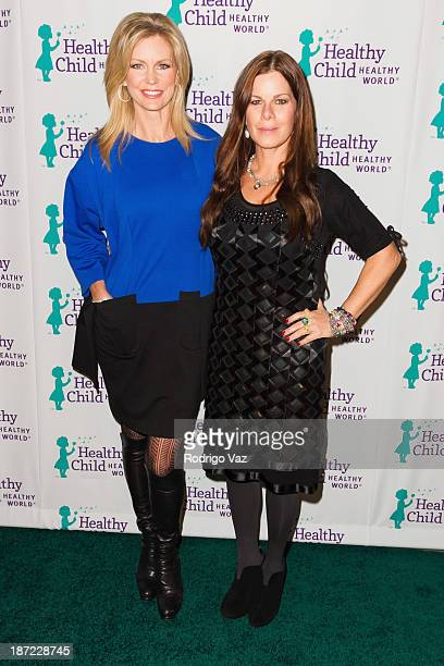Dr Wendy Walsh and actress Marcia Gay Harden arrive at Mom On A Mission's 5th Annual Awards Gala on November 6 2013 in Pacific Palisades California