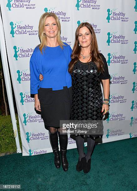 Dr Wendy Walsh and actress Marcia Gay Harden attend Mom On A Mission's 5th Annual Awards and Gala on November 6 2013 in Pacific Palisades California