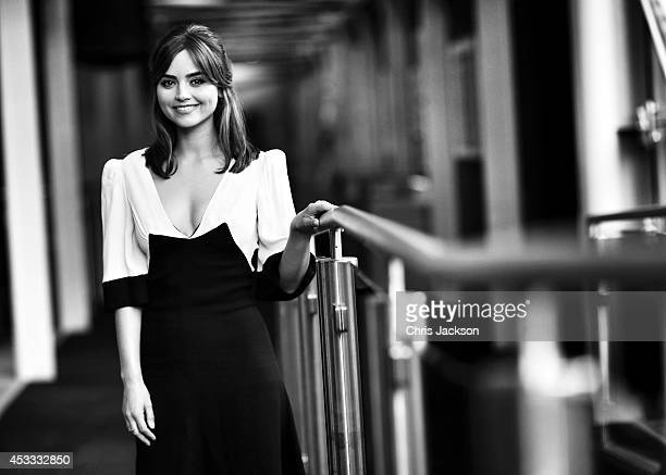 Dr Who actress Jenna Coleman poses for a portrait at the BFI Southbank as he attends the London Premiere of 'Doctor Who' at BFI Southbank on August 7...