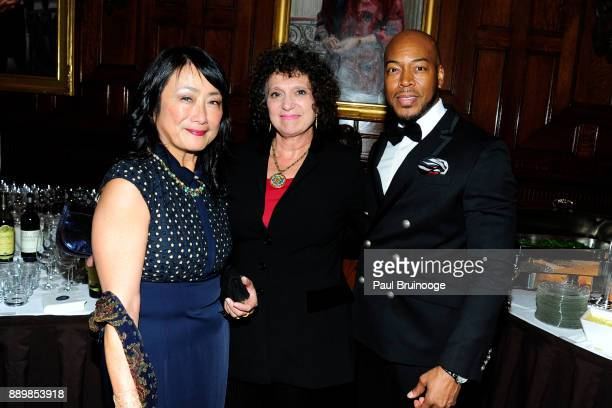 Dr Yuki Kimura Dr Carol Barsky and Ezra Taylor attend the Hackensack University Medical Center Foundation Holiday Party Hosted by Jon Fitzgerald...