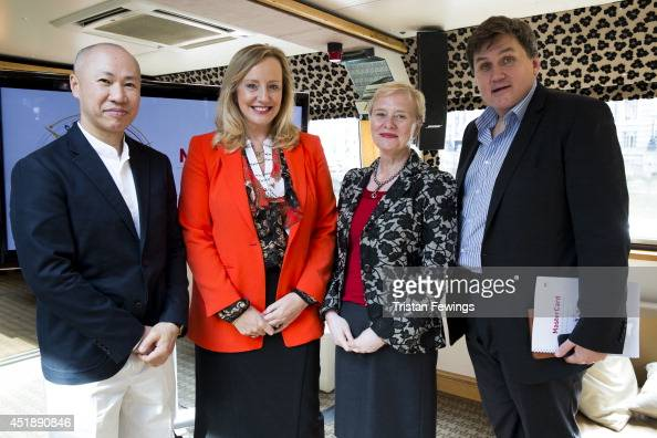 Dr Yuwa HendrickWang President of MasterCard UK and Ireland Marion King President of International Markets for MasterCard Worldwide Ann Cairns and...