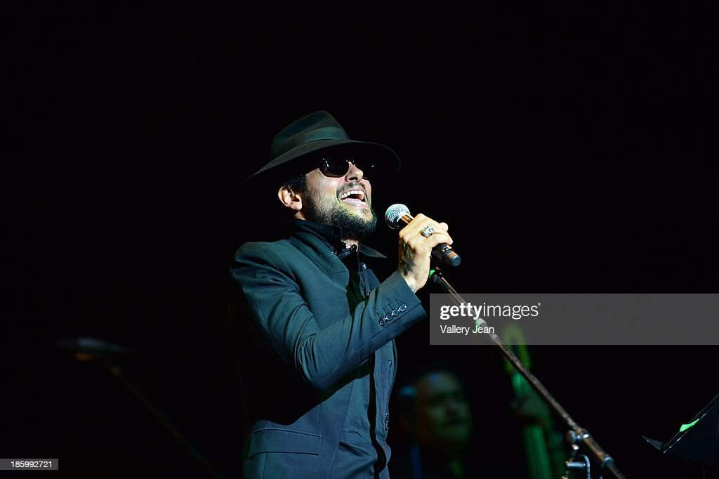 Draco Rosa performs at Fillmore Miami Beach on October 26, 2013 in Miami Beach, Florida.