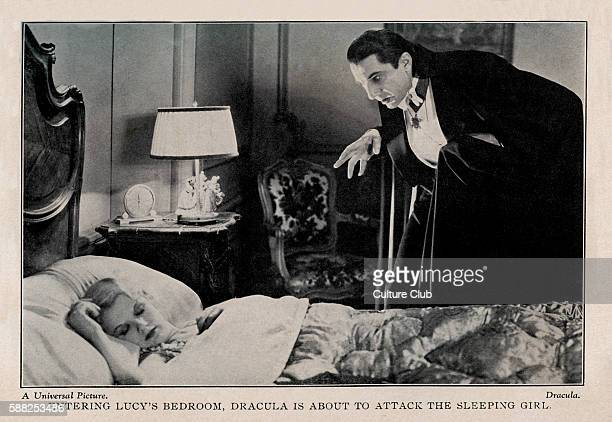 Dracula 1931 film Bela Lugosi as Count Dracula and Frances Dade as Lucy Caption Entering Lucys bedroom Dracula is about to attack the sleeping girl...