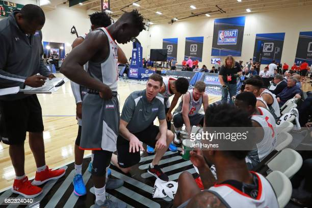 Draft Combine participants are coached during the NBA Draft Combine at the Quest Multisport Center on May 11 2017 in Chicago Illinois NOTE TO USER...