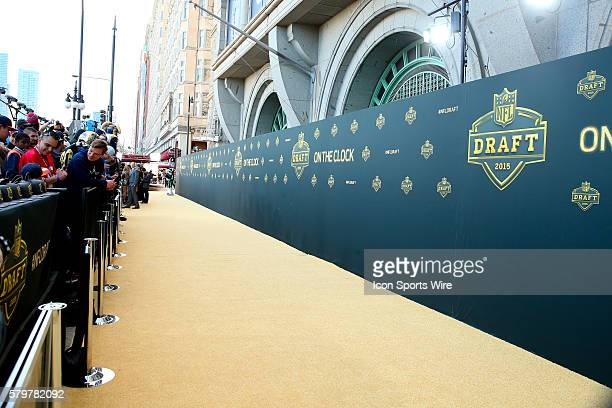 Draft Logo on the Gold Carpet at the 2015 National Football League Draft The 2015 National Football League Draft was held at the Auditorium Theatre...