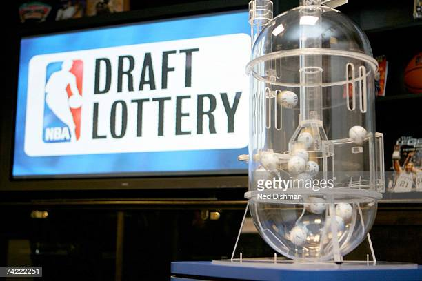 Draft Lottery Machine prior to the 2007 NBA Draft Lottery on May 22 2007 at the NBATV Studios in Secaucus New Jersey NOTE TO USER User expressly...