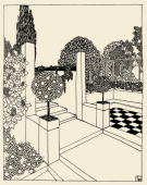 Draft of gardens In Deutsche Kunst und Dekoration volume XIX page 37 Painting Around 1907
