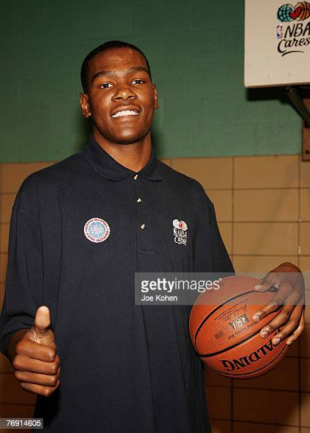Draft pick rookie Kevin Durant join students from Public School 83 Luis Munoz Rivera to encourage a healthy and active lifestyle part of the NBA's...
