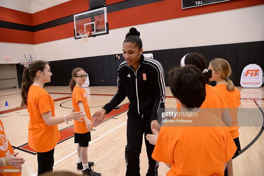 WNBA draft prospect <a gi-track='captionPersonalityLinkClicked' href=/galleries/search?phrase=Alyssa+Thomas&family=editorial&specificpeople=7287086 ng-click='$event.stopPropagation()'>Alyssa Thomas</a> participates in a WNBA Clinic on April 13, 2014 at ESPN in Bristol, Connecticut.
