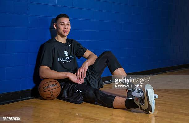 Draft Prospect Ben Simmons poses for a photo during a workout at the Veale Center at Case Western Reserve University on May 19 2016 in Cleveland Ohio...