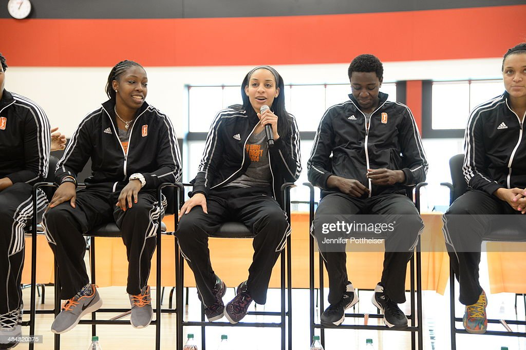 WNBA draft prospect Bria Hartley participates in a WNBA Clinic on April 13 2014 at ESPN in Bristol Connecticut NOTE TO USER User expressly...