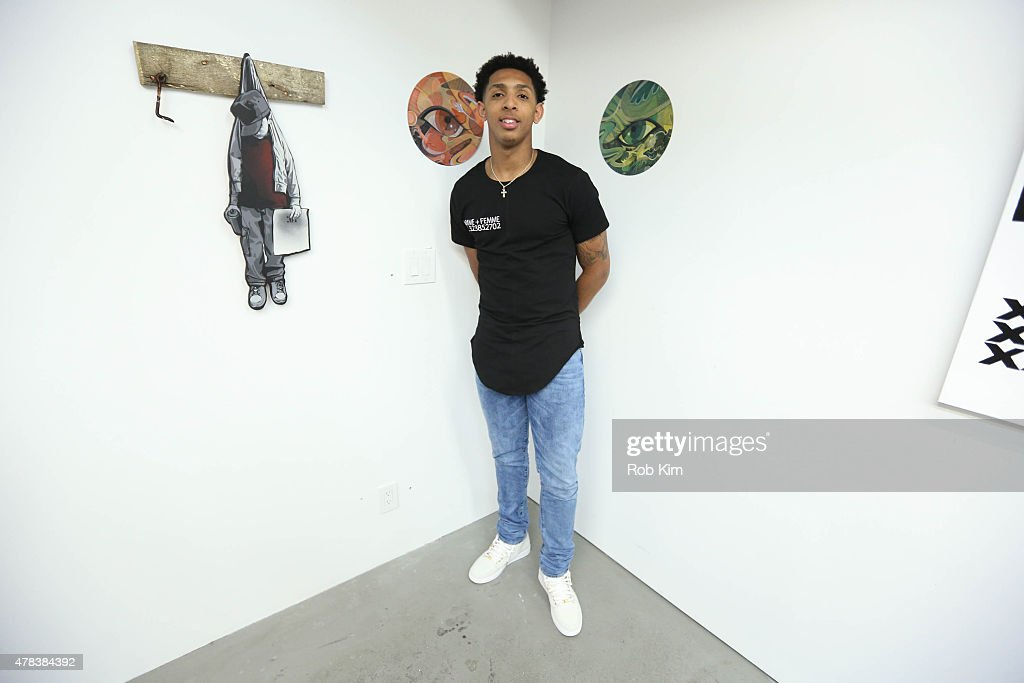 NBA draft prospect Cameron Payne attends 'The Art Of The Game' Pop Up Art Installation Experience on June 24, 2015 in New York City.