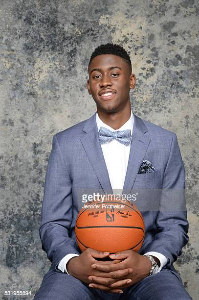 Draft Prospect Caris LeVert poses for some portraits prior to the 2016 NBA Draft Lottery on May 17 2016 at the NBA Headquarters in New York City NOTE...