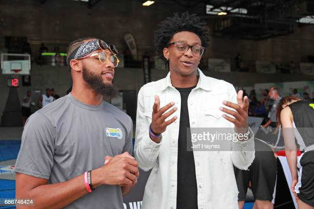 Draft Prospect De'Aaron Fox participates in the Mountain Dew NBA 3x3 tournament on May 13 2017 in Chicago Illinois NOTE TO USER User expressly...