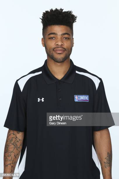 Draft Prospect Frank Mason III poses for a head shot during the NBA Draft Combine Medical Testing on May 13 2017 at Northwestern Memorial Hospital in...