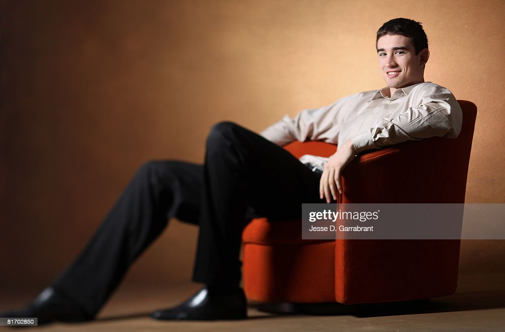 NBA Draft Prospect Joe Alexander poses for a portrait during media availability for the 2008 NBA Draft on June 25, 2008 at The Westin Hotel in Times Square in New York, New York.