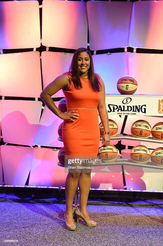 Draft Prospect Kaleena Mosqueda-Lewis poses for a photo during the 2015 WNBA Draft Presented By State Farm on April 16, 2015 at Mohegan Sun Arena in Uncasville, Connecticut.