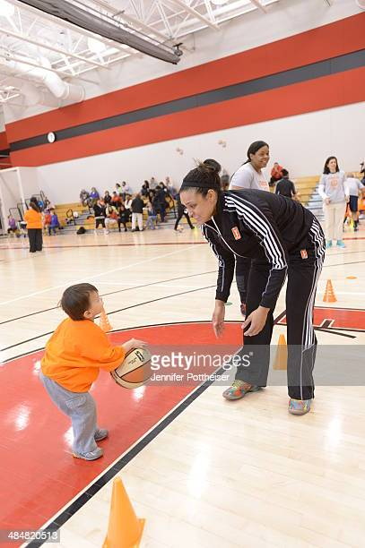WNBA draft prospect Kayla McBride participates in a WNBA Clinic on April 13 2014 at ESPN in Bristol Connecticut NOTE TO USER User expressly...