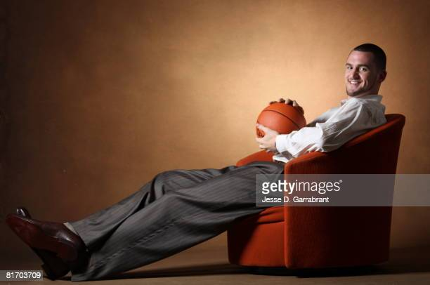 Draft Prospect Kevin Love poses for a portrait during media availability for the 2008 NBA Draft on June 25 2008 at The Westin Hotel in Times Square...