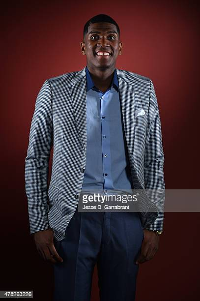 Draft Prospect Kevon Looney poses for portraits during media availability and circuit as part of the 2015 NBA Draft on June 24 2015 at the Westin...