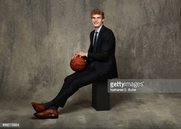 Draft Prospect Lauri Markkanen poses for portraits during media availability and circuit as part of the 2017 NBA Draft on June 21 2017 at the Grand...