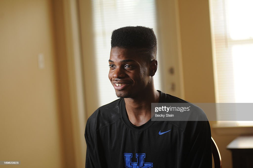 NBA draft prospect Nerlens Noel speaks with the media before the NBA Draft Lottery on Tuesday May 21, 2013 in Birmingham, Alabama.