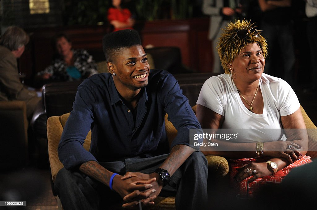 NBA draft prospect Nerlens Noel watches the NBA Draft Lottery with his mother on Tuesday May 21, 2013 in Birmingham, Alabama.