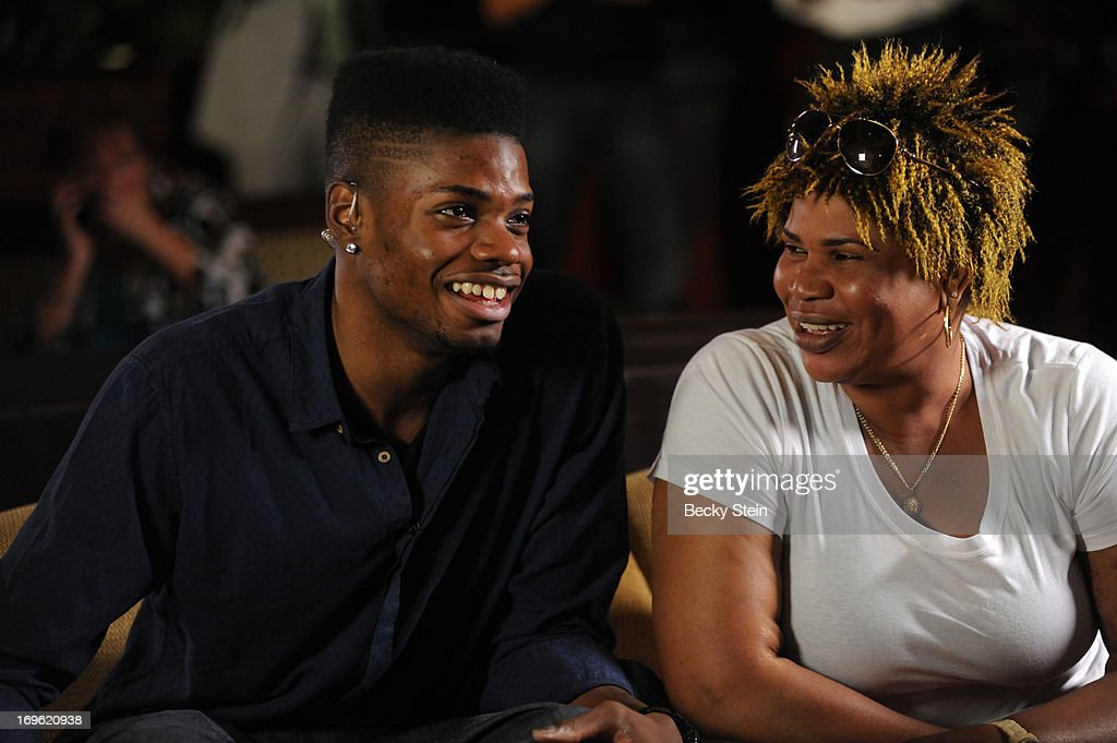 NBA draft prospect <a gi-track='captionPersonalityLinkClicked' href=/galleries/search?phrase=Nerlens+Noel&family=editorial&specificpeople=7880842 ng-click='$event.stopPropagation()'>Nerlens Noel</a> watches the NBA Draft Lottery with his mother on Tuesday May 21, 2013 in Birmingham, Alabama.